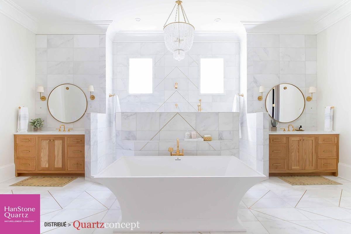 Quartz HanStonQuartz HanStone couleur royale blance couleur royale-blanc