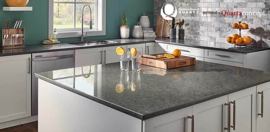 Babylon Gray comptoir de Quartz MSI