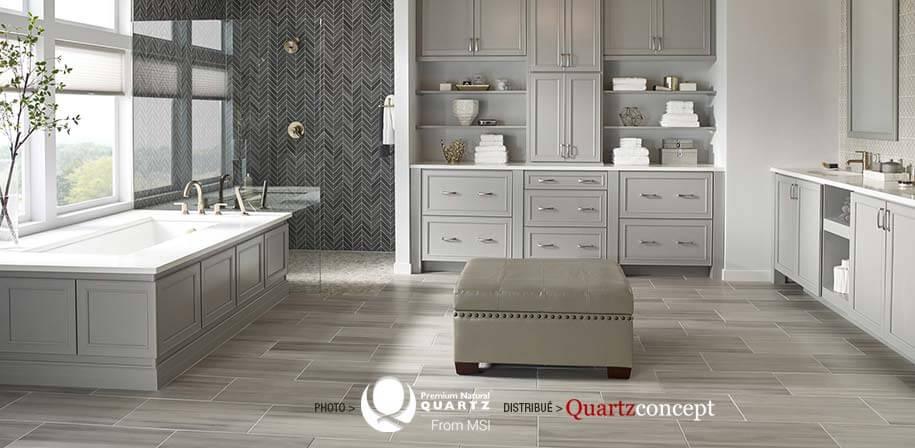 Carrara Marmi comptoir de Quartz MSI