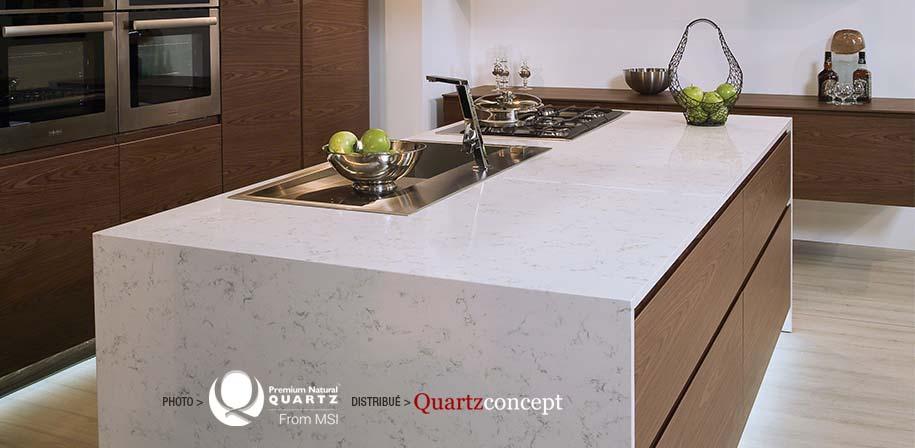 Comptoir de cuisine en quartz par MSI