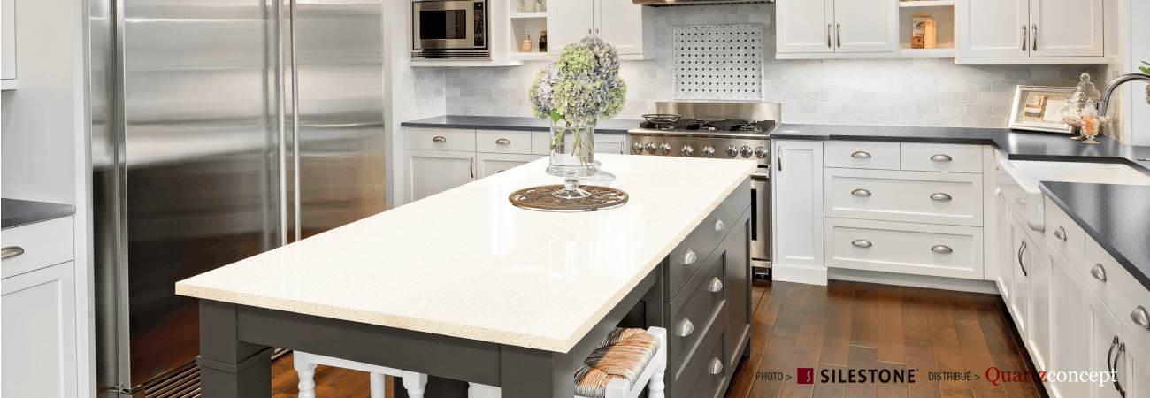 comptoir quartz Silestone - Cuisine Américaine