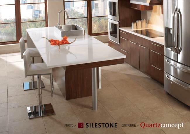 comptoir quartz Silestone - Cuisines Américaines