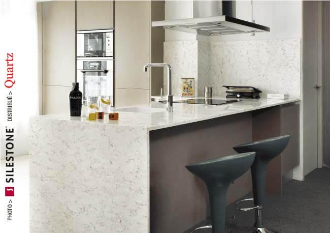 comptoir quartz Silestone - Cuisine moderne