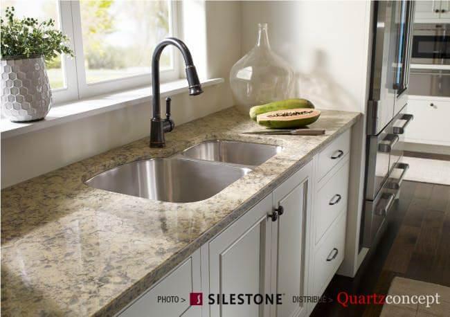 comptoir quartz Silestone - Cuisines Rustiques