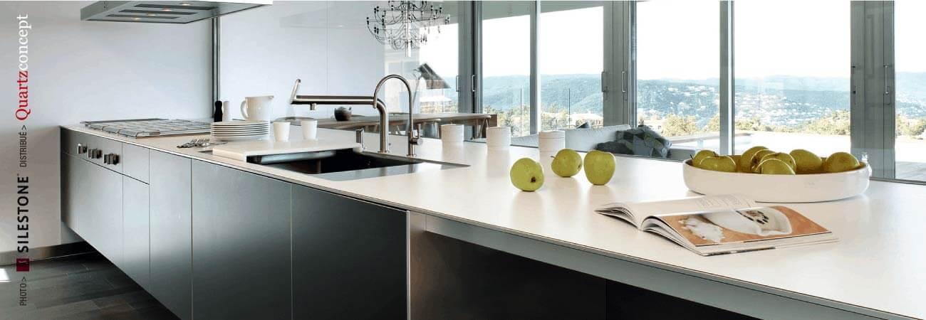 comptoir quartz Silestone - Grande cuisine