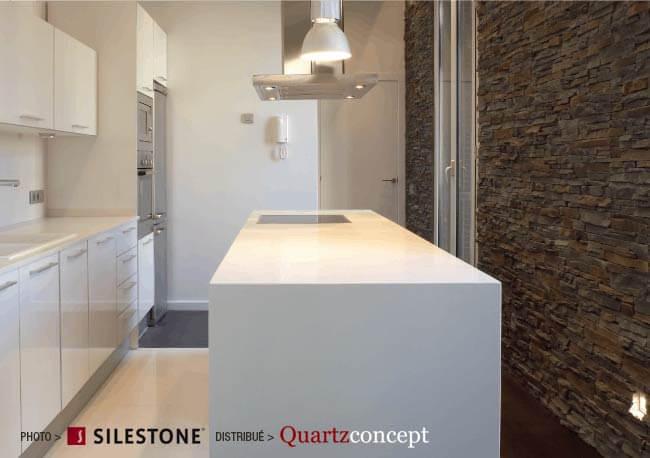 comptoir quartz Silestone - Petite cuisine