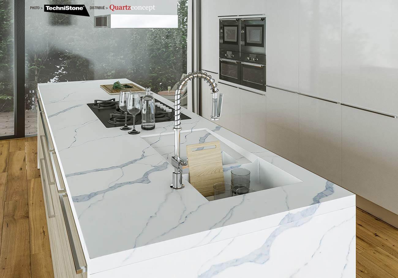 couleur-AMNIS-Quartz Technistone | Comptoir de cuisine et salle de bain
