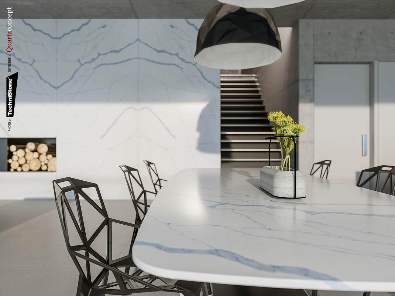 couleur-Amnis Quartz Technistone | Comptoir de cuisine et salle de bain
