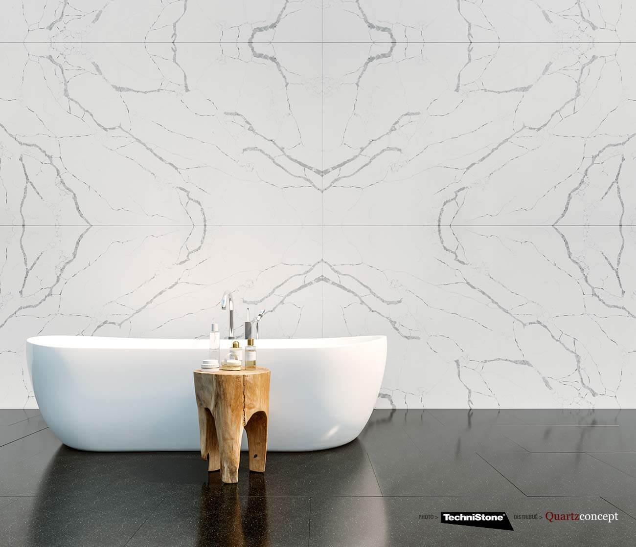 couleur-Callacatta-SILVA Quartz Technistone | Comptoir de cuisine et salle de bain