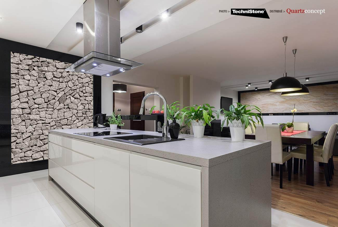 couleur-Elegance-Ash Quartz Technistone | Comptoir de cuisine et salle de bain