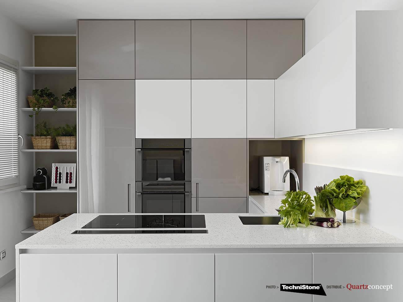couleur-Elegance-Eco-Nev Quartz Technistone | Comptoir de cuisine et salle de bain