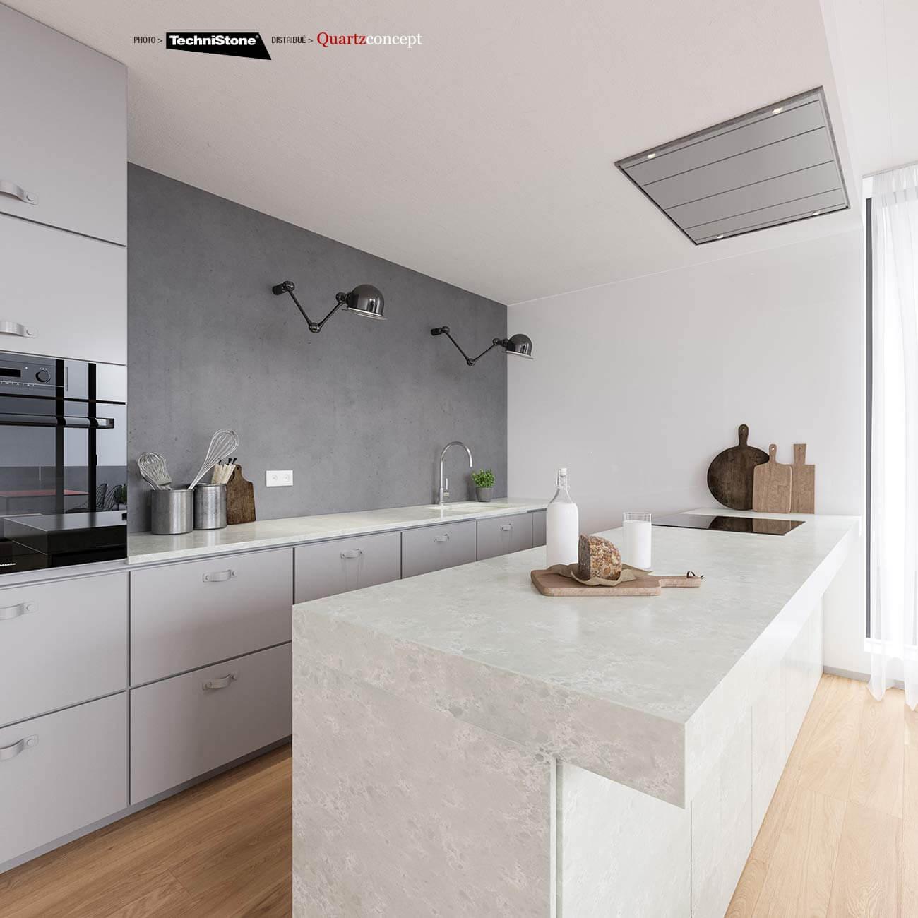 couleur-Noble-Olympos Quartz Technistone | Comptoir de cuisine et salle de bain
