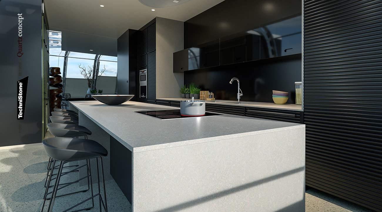 couleur-Noble-Pro-Frost Quartz Technistone | Comptoir de cuisine et salle de bain