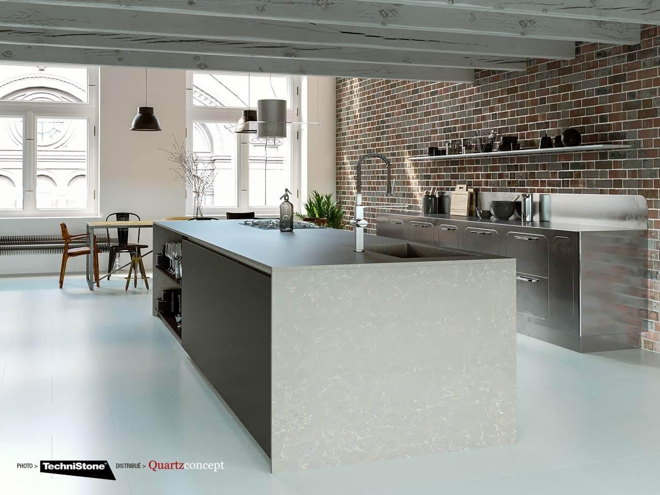 couleur-Noble-Pro-Storm Quartz Technistone | Comptoir de cuisine et salle de bain