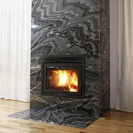 manteau de foyer en granite