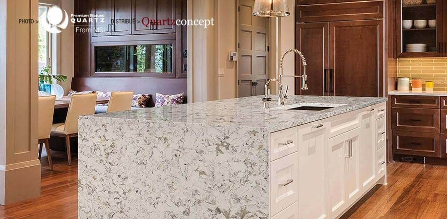 Montclair White comptoir de Quartz MSI