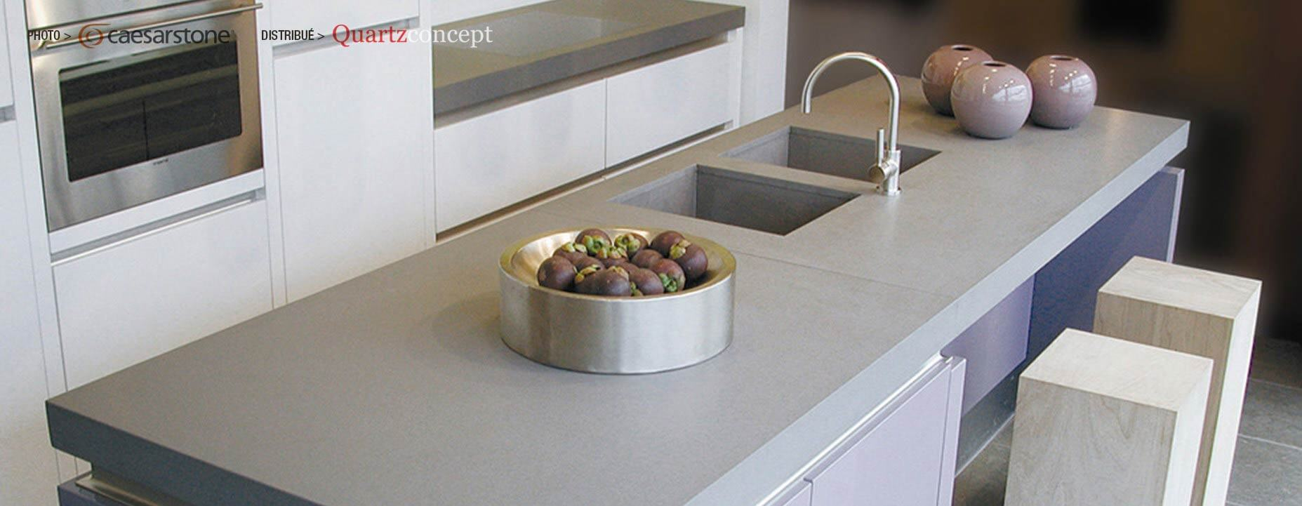 Quartz Caesarstone couleur 2003 concrete