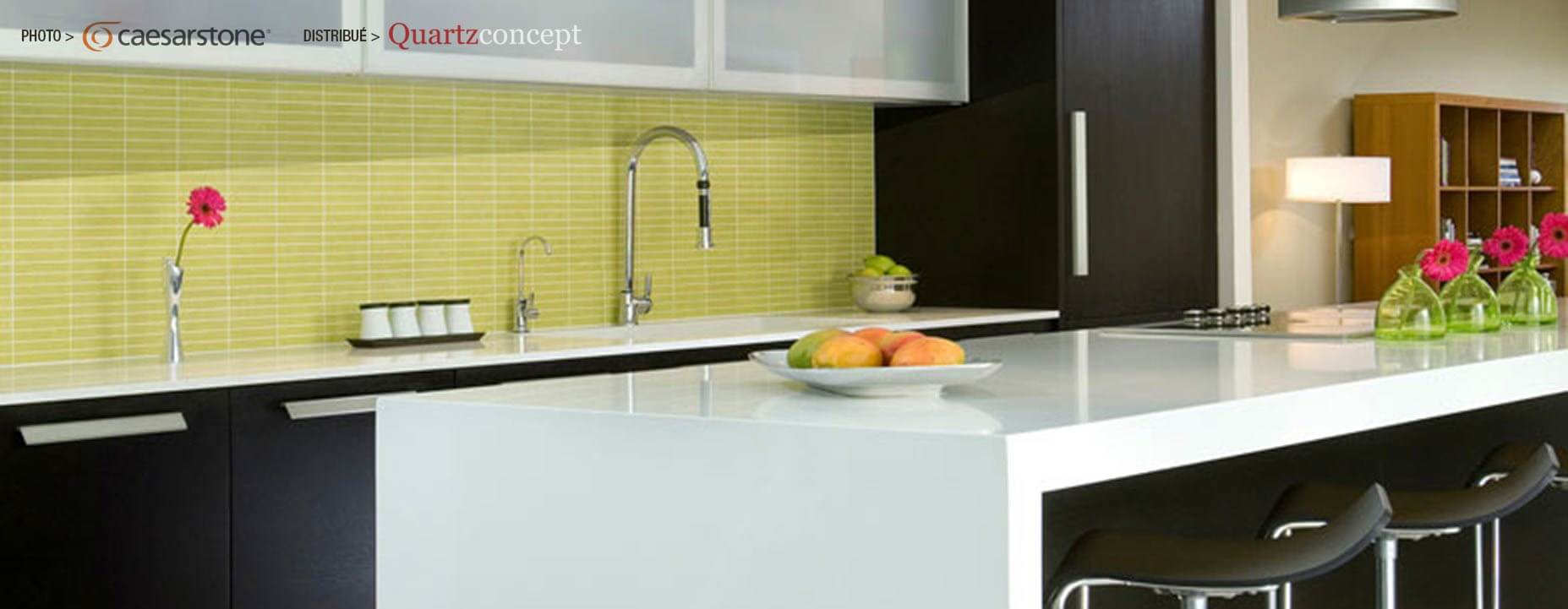 Quartz Caesarstone couleur 2141 blizzard