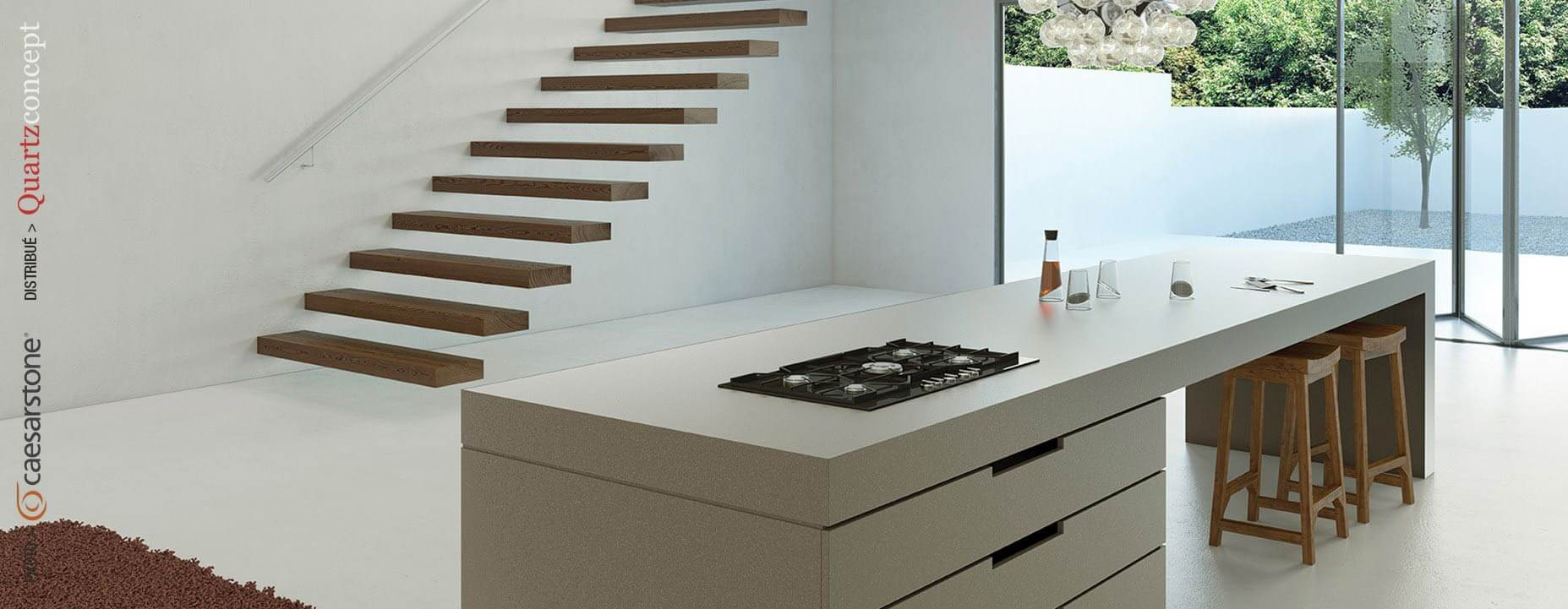 Quartz Caesarstone couleur 4003 sleek concrete