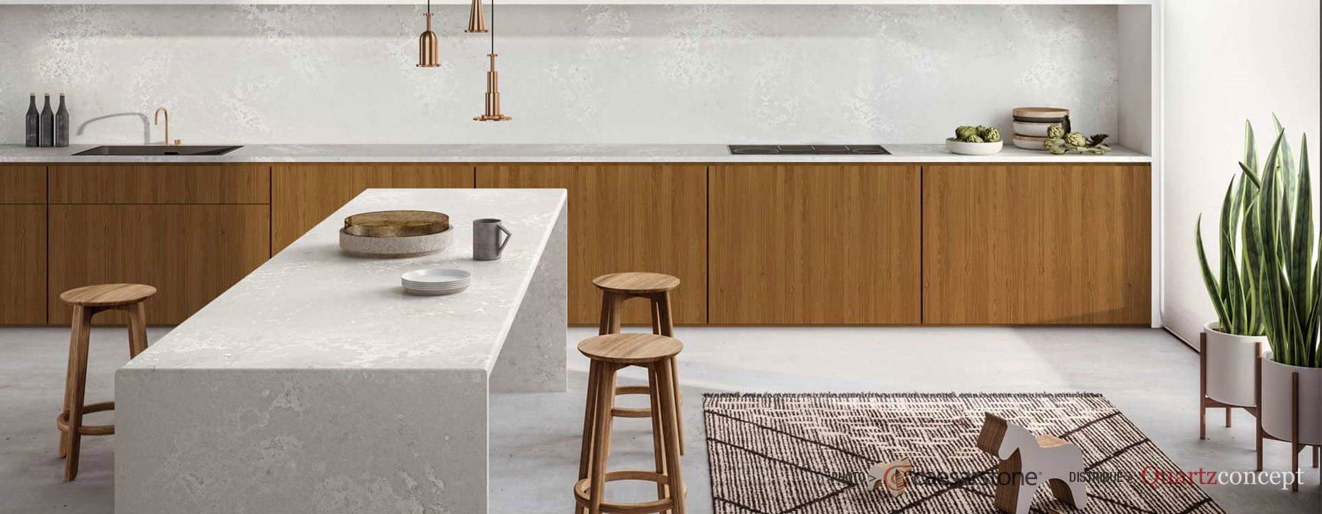 Quartz Caesarstone couleur 4011 cloudburst concrete
