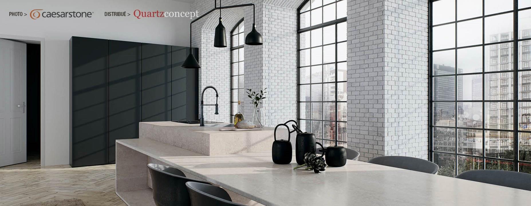Quartz Caesarstone couleur 4023 topus concrete