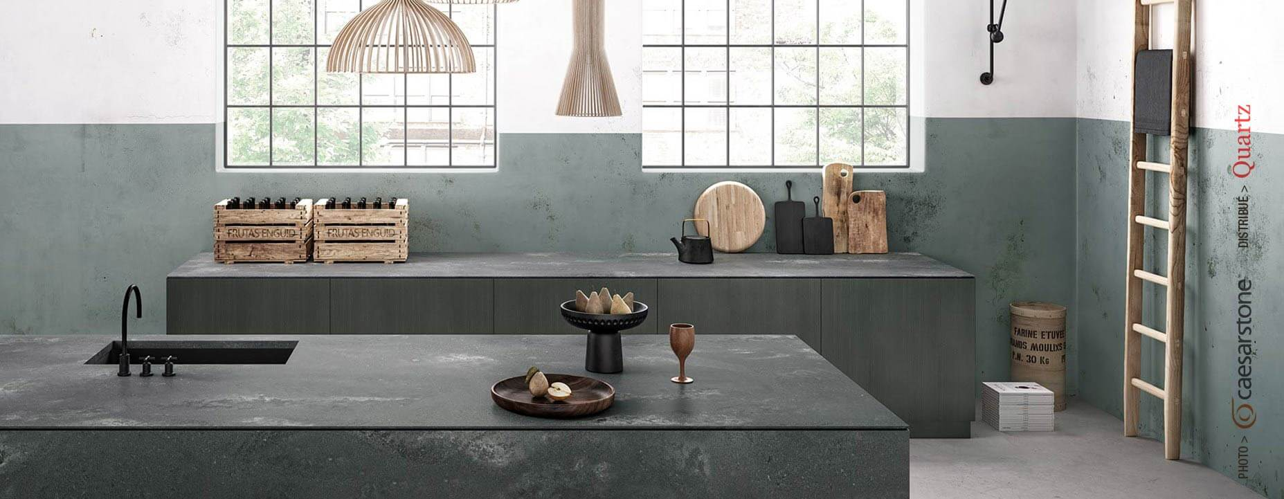 Quartz Caesarstone couleur 4033 rugged concrete