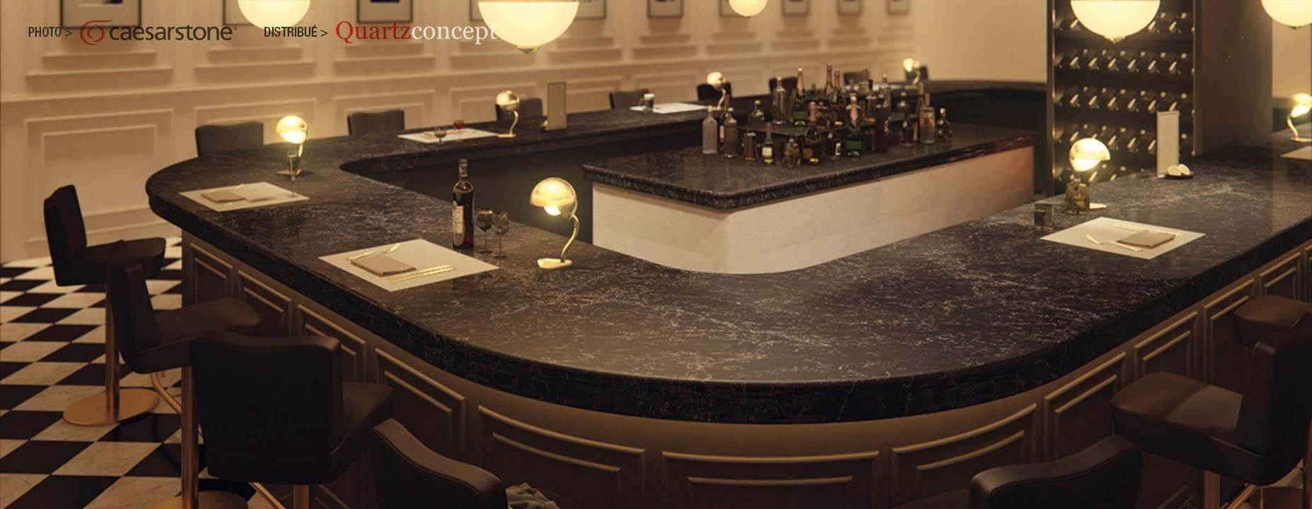 Quartz Caesarstone couleur 5100 vanilla noir