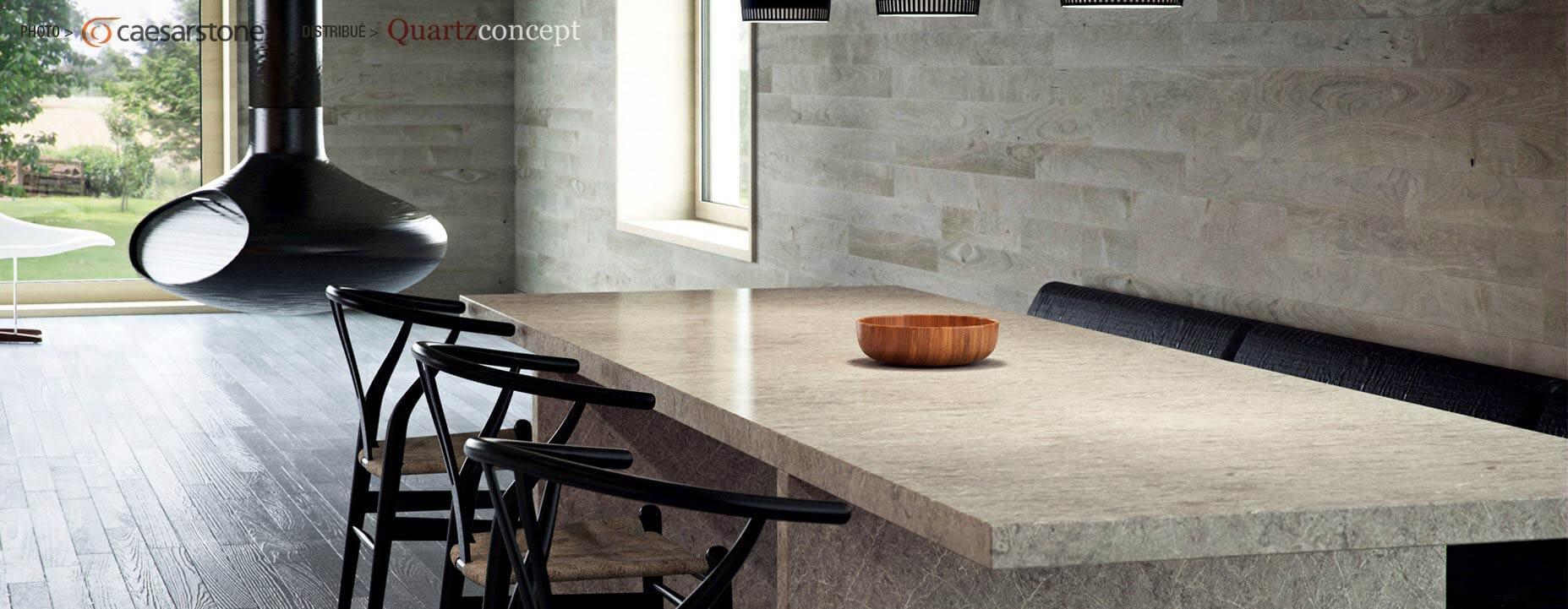 Quartz Caesarstone couleur 5133 symphony grey