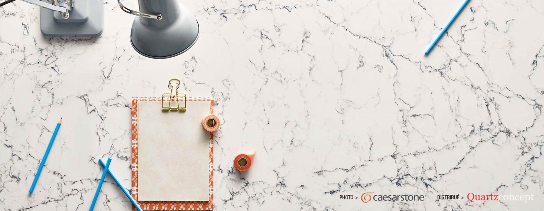 Quartz Caesarstone couleur 5143 white attica