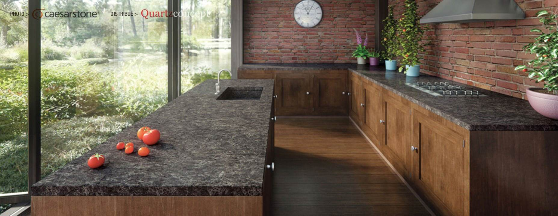 Quartz Caesarstone couleur 6003 coastal grey
