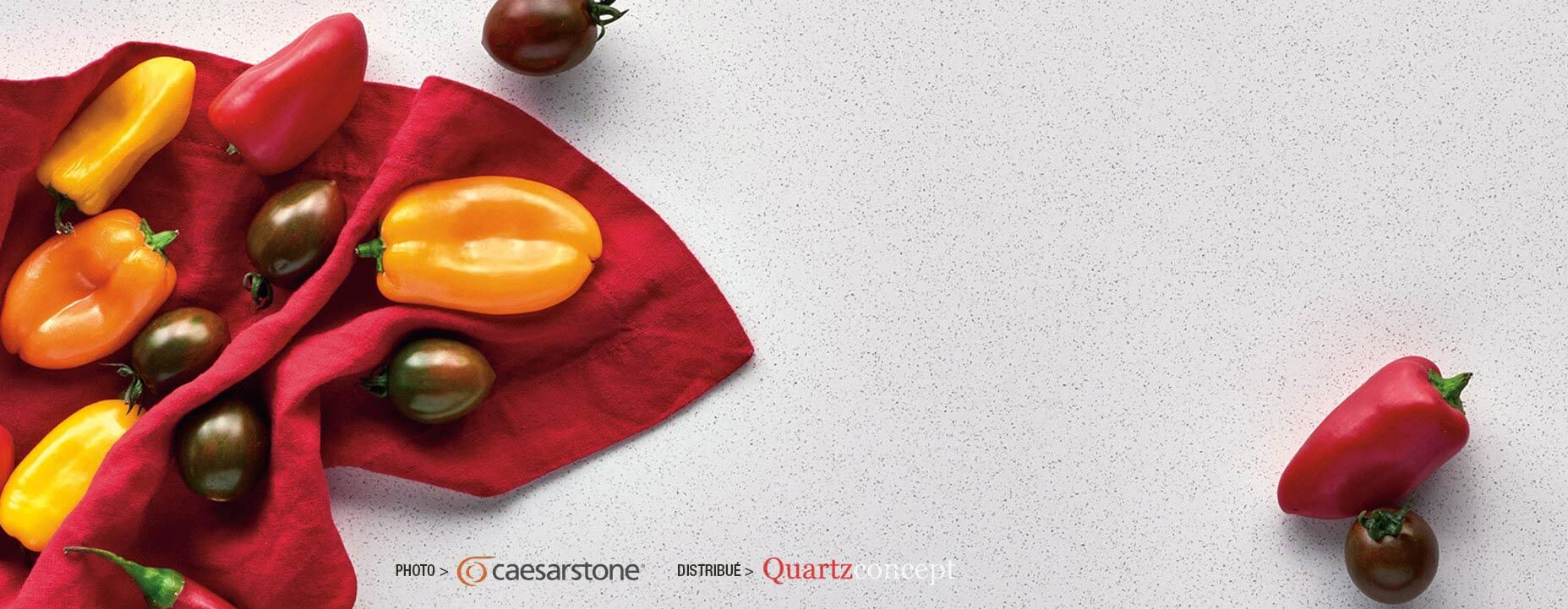 Quartz Caesarstone couleur 6011 intense white