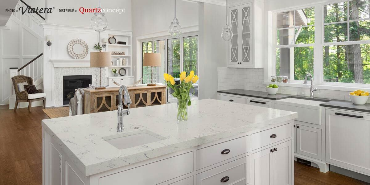 Quartz Viatera Willow White