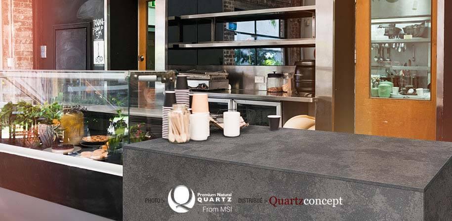 Urban Lava comptoir de Quartz MSI