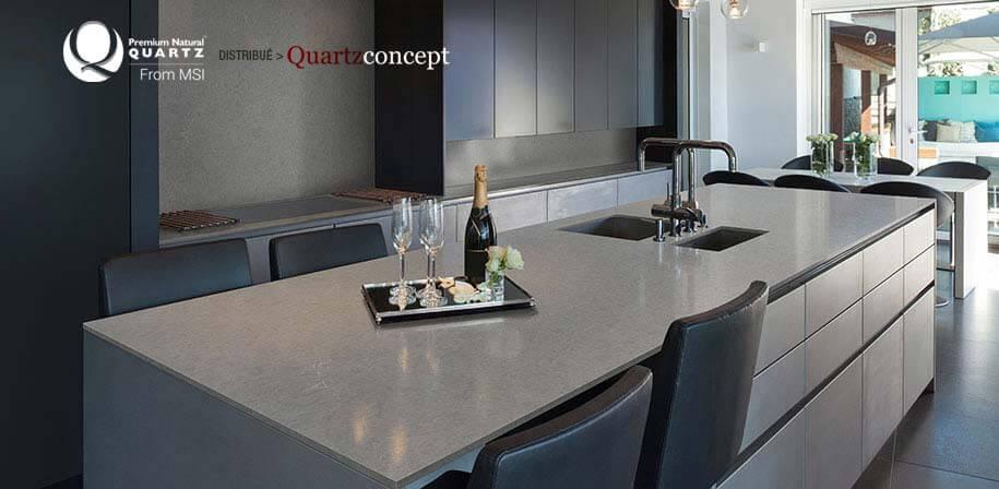 Vena Carbona comptoir de Quartz MSI