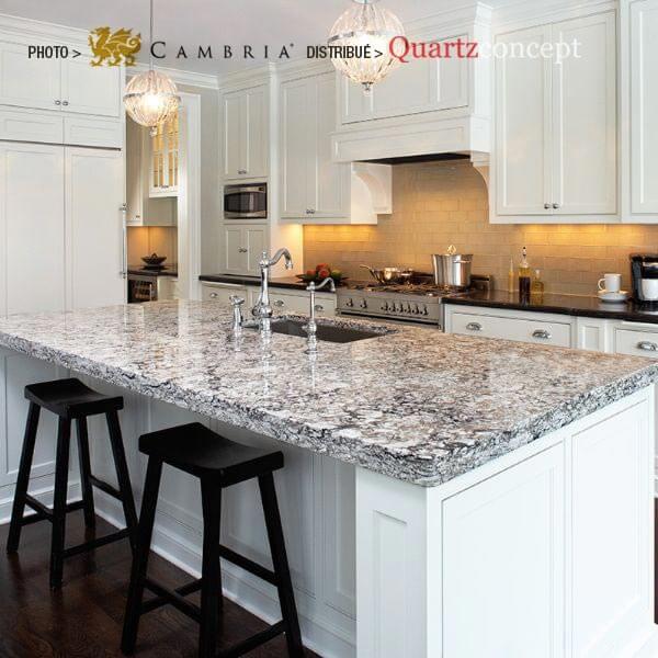bellingham Quartz Cambria | comptoir de cuisine | Lanaudière et Rive-Nord de Mtl