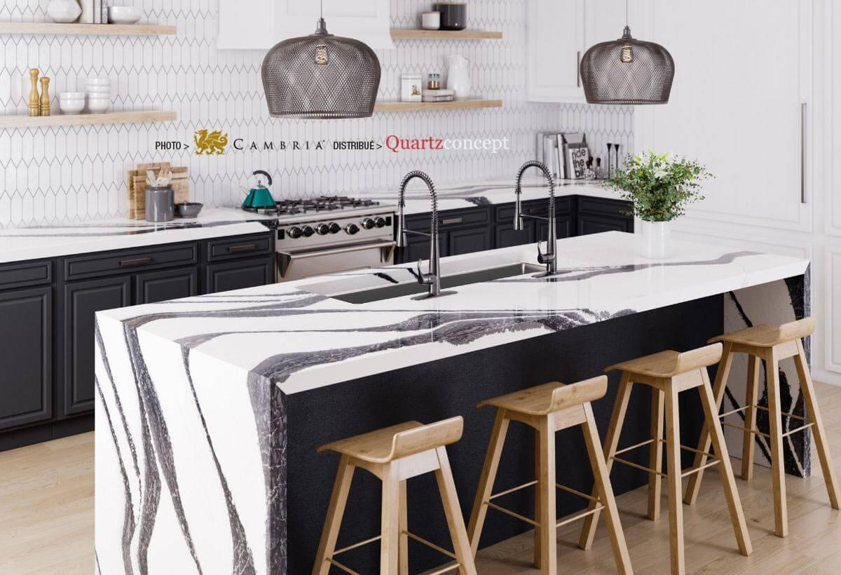 bentley Quartz Cambria | comptoir de cuisine | Lanaudière et Rive-Nord de Mtl