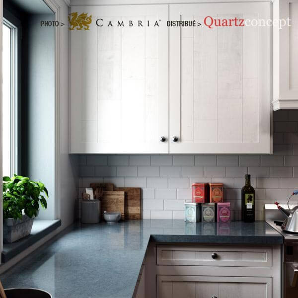 bridgewater Quartz Cambria | comptoir de cuisine | Lanaudière et Rive-Nord de Mtl