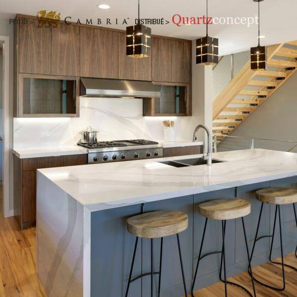 brittanicca Quartz Cambria | comptoir de cuisine | Lanaudière et Rive-Nord de Mtl