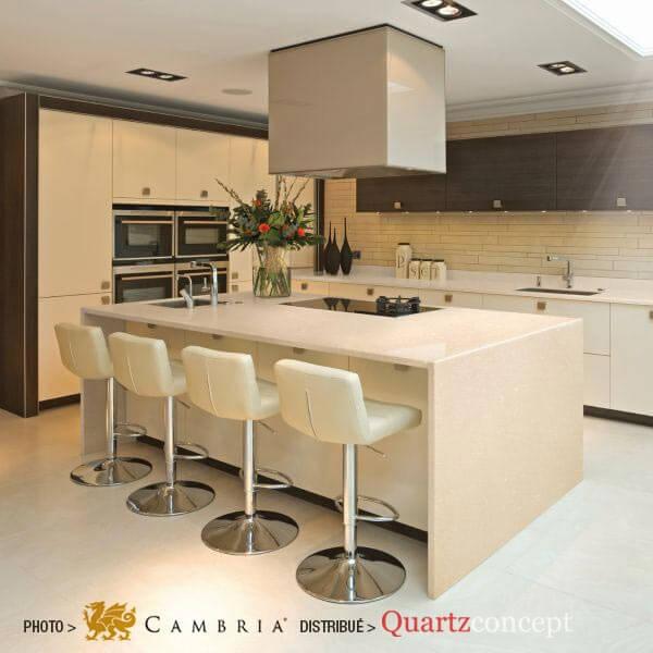 fairbourne Quartz Cambria | comptoir de cuisine | Lanaudière et Rive-Nord de Mtl