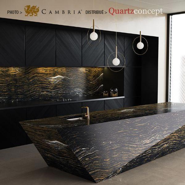 golden-dragon Quartz Cambria | comptoir de cuisine | Lanaudière et Rive-Nord de Mtl