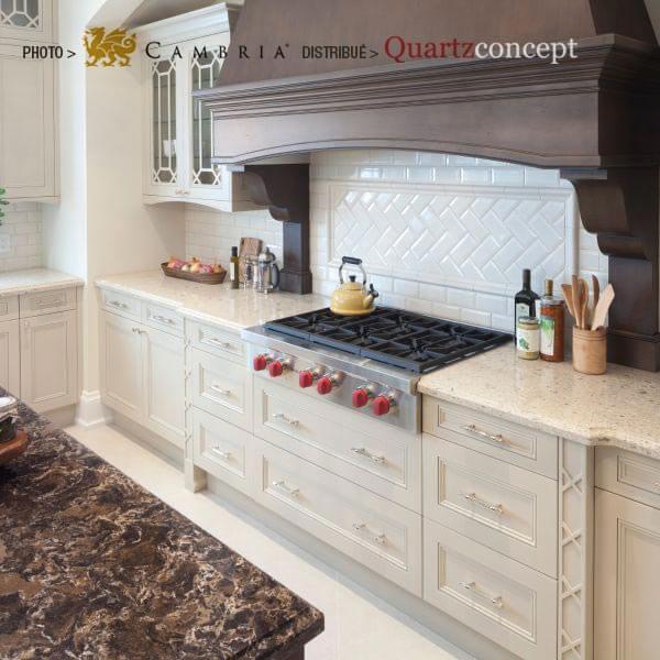 laneshaw Quartz Cambria | comptoir de cuisine | Lanaudière et Rive-Nord de Mtl