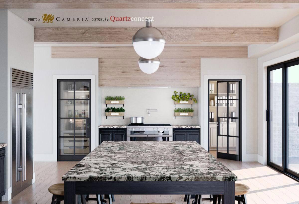 marwell Quartz Cambria | comptoir de cuisine | Lanaudière et Rive-Nord de Mtl