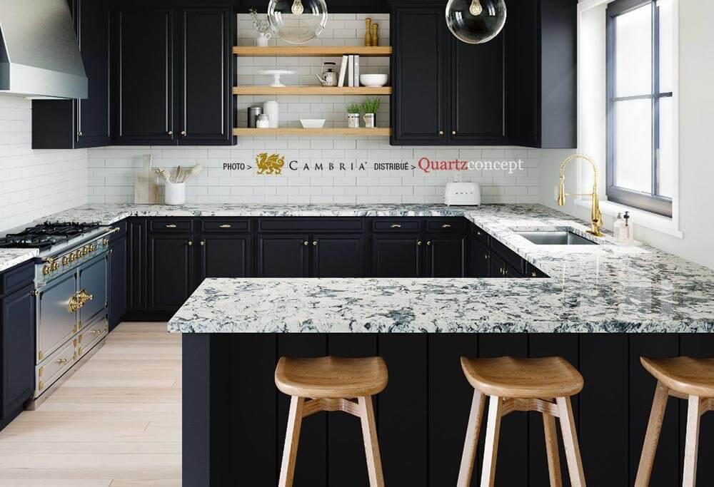 mayfairl Quartz Cambria | comptoir de cuisine | Lanaudière et Rive-Nord de Mtl