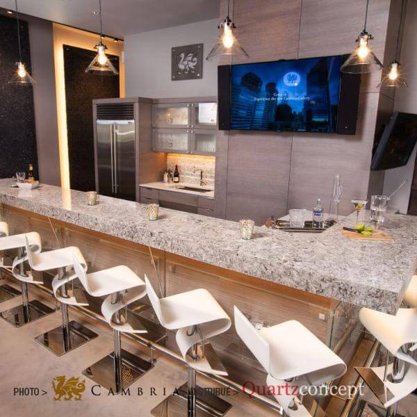 new-quay Quartz Cambria | comptoir de cuisine