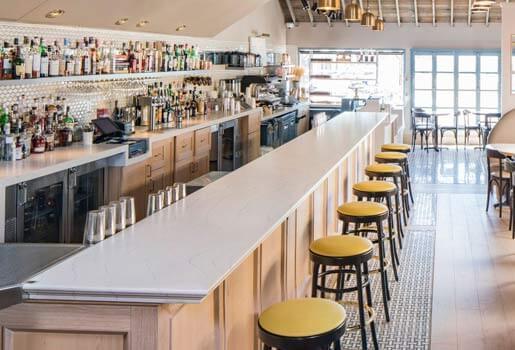 Quartz Cambria comptoir de restaurant